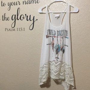 Shyanne Wild Dream Tank with Lace on Bottom